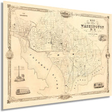 Load image into Gallery viewer, 1850 Map of the city of Washington D.C.