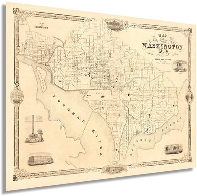 1850 Map of the city of Washington D.C.