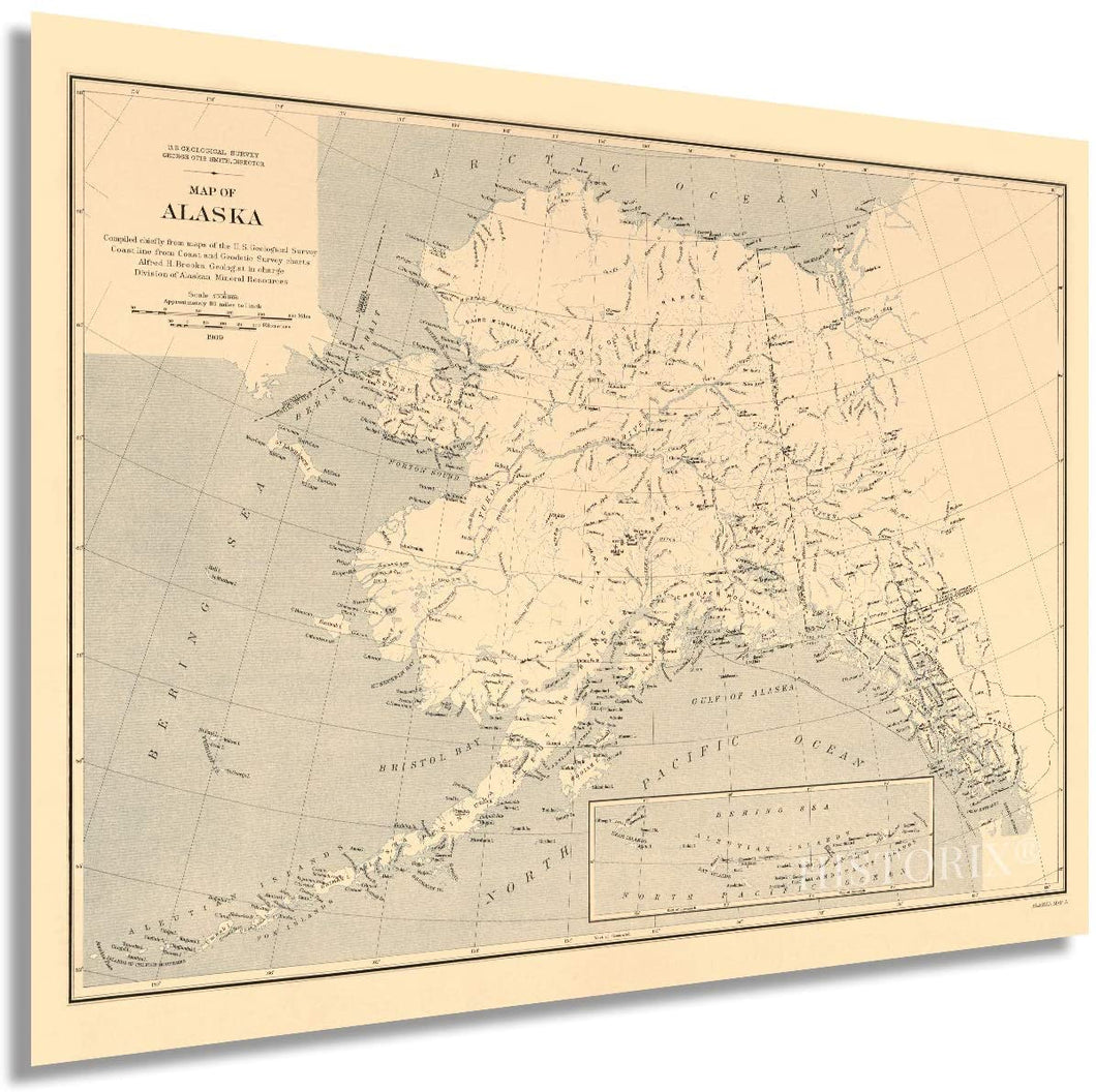 HISTORIX 1909 Map of Alaska