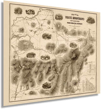 Load image into Gallery viewer, 1858 Map of the White Mountains, New Hampshire