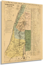 Load image into Gallery viewer, Historix Vintage 1881 The Journeys and Deeds of Jesus and Scriptural Index on A New Map of Palestine - Restored and Enhanced Vintage Map - Bible Study Map - Biblical Map - Biblical Poster