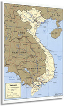 Load image into Gallery viewer, 2001 Map of Vietnam