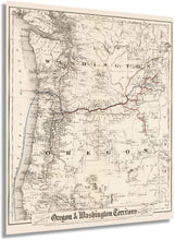 Load image into Gallery viewer, 1880 Colton's township map of Oregon & Washington Territory