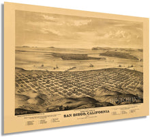 Load image into Gallery viewer, HISTORIX 1876 San Diego, California