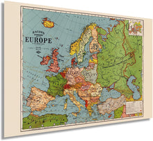 Load image into Gallery viewer, 1925 Bacon's standard map of Europe