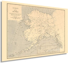 Load image into Gallery viewer, HISTORIX 1909 Map of Alaska