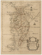 Load image into Gallery viewer, 1786 Map of the Peninsula Between Delaware & Chesopeak Bays