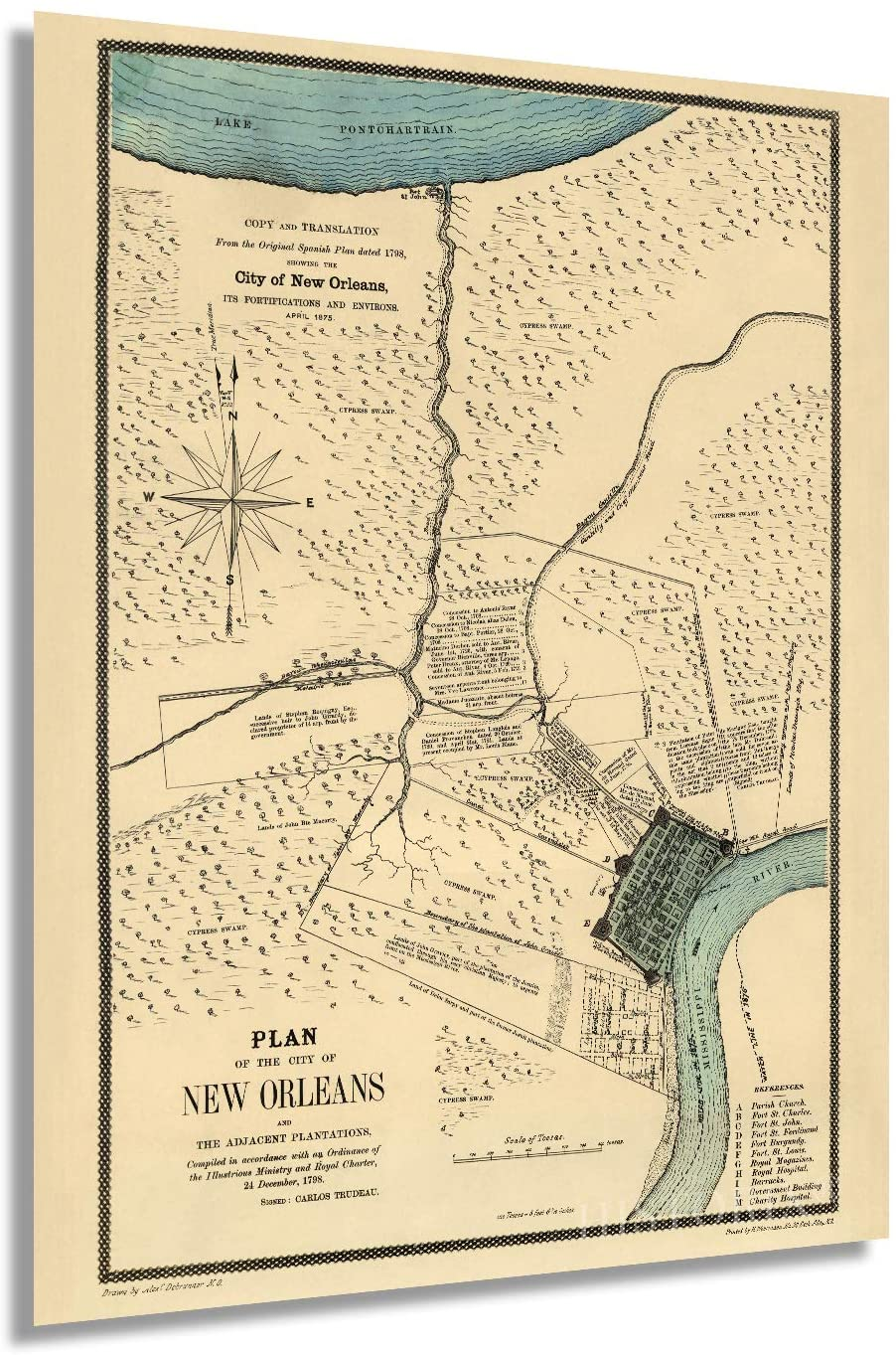 1875 Plan of the City of New Orleans
