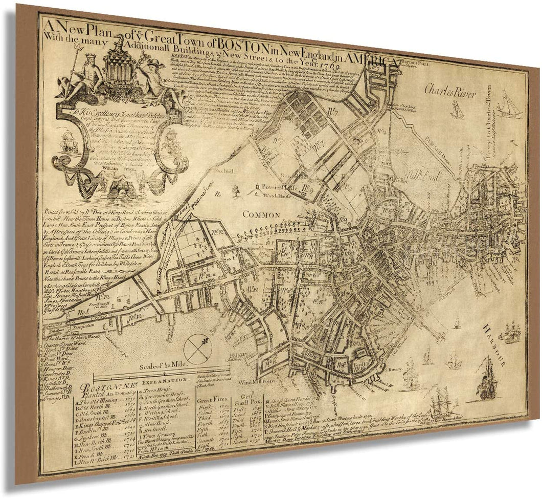 1769 Boston in New England in America