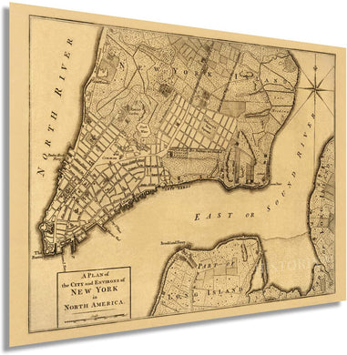 1776 A plan of the city and environs of New York