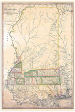 Load image into Gallery viewer, 1820 Map of Mississippi