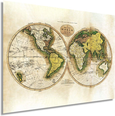Historix Vintage 1795 Map of The World from The Best Authorities - Restored Vintage Map of The World - Vintage World Map Poster - Old Style World Map - (Antique White)