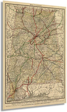 Load image into Gallery viewer, 1888 Map of Alabama