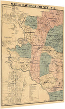 Load image into Gallery viewer, 1890 Map of Davidson County, N.C.
