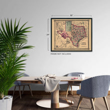 Load image into Gallery viewer, Historix Map of Texas