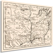 Load image into Gallery viewer, 1763 Colonial America Map - Vintage Map of Colonial America Wall Art - Old Colonial America Map Poster - Historic Colonial American Map