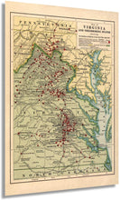 Load image into Gallery viewer, 1912 Map of Virginia in the Civil War