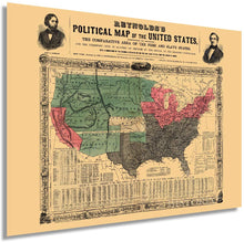 Load image into Gallery viewer, 1856 Reynolds's political map of the United States