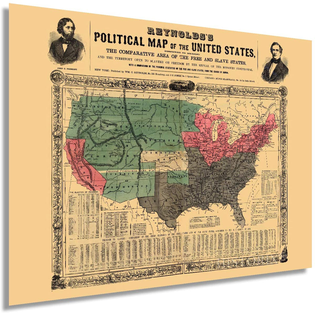 1856 Reynolds's political map of the United States