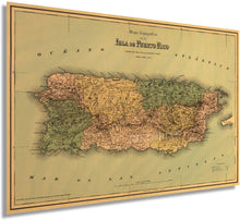 Load image into Gallery viewer, 1886 Puerto Rico Map