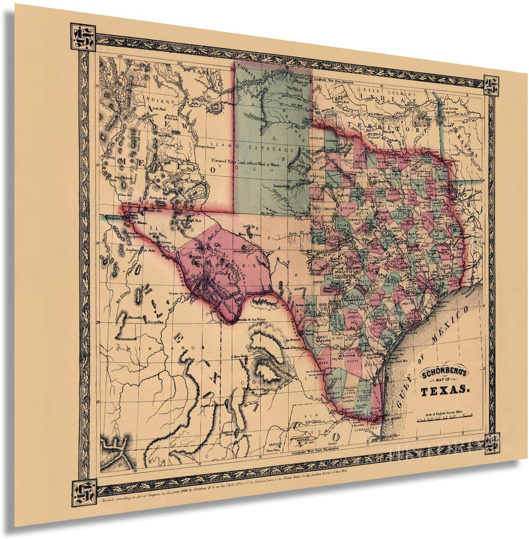 Historix Map of Texas