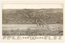 Load image into Gallery viewer, HISTORIX 1877 Birds Eye View of Cleveland, Ohio