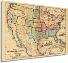 Load image into Gallery viewer, 1861 Military map of the United States & territories