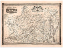 Load image into Gallery viewer, Historix Map of The State of Virginia