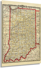 Load image into Gallery viewer, Historix 1888 Map of Indiana