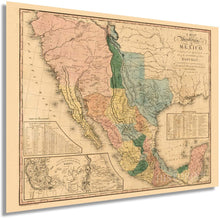 Load image into Gallery viewer, HISTORIX 1846 A map of The United States of Mexico