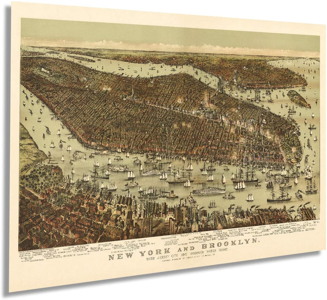 1892 New York and Brooklyn
