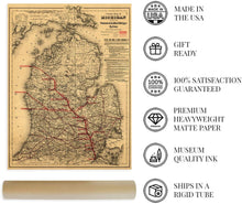Load image into Gallery viewer, Historix 1886 Map of Michigan