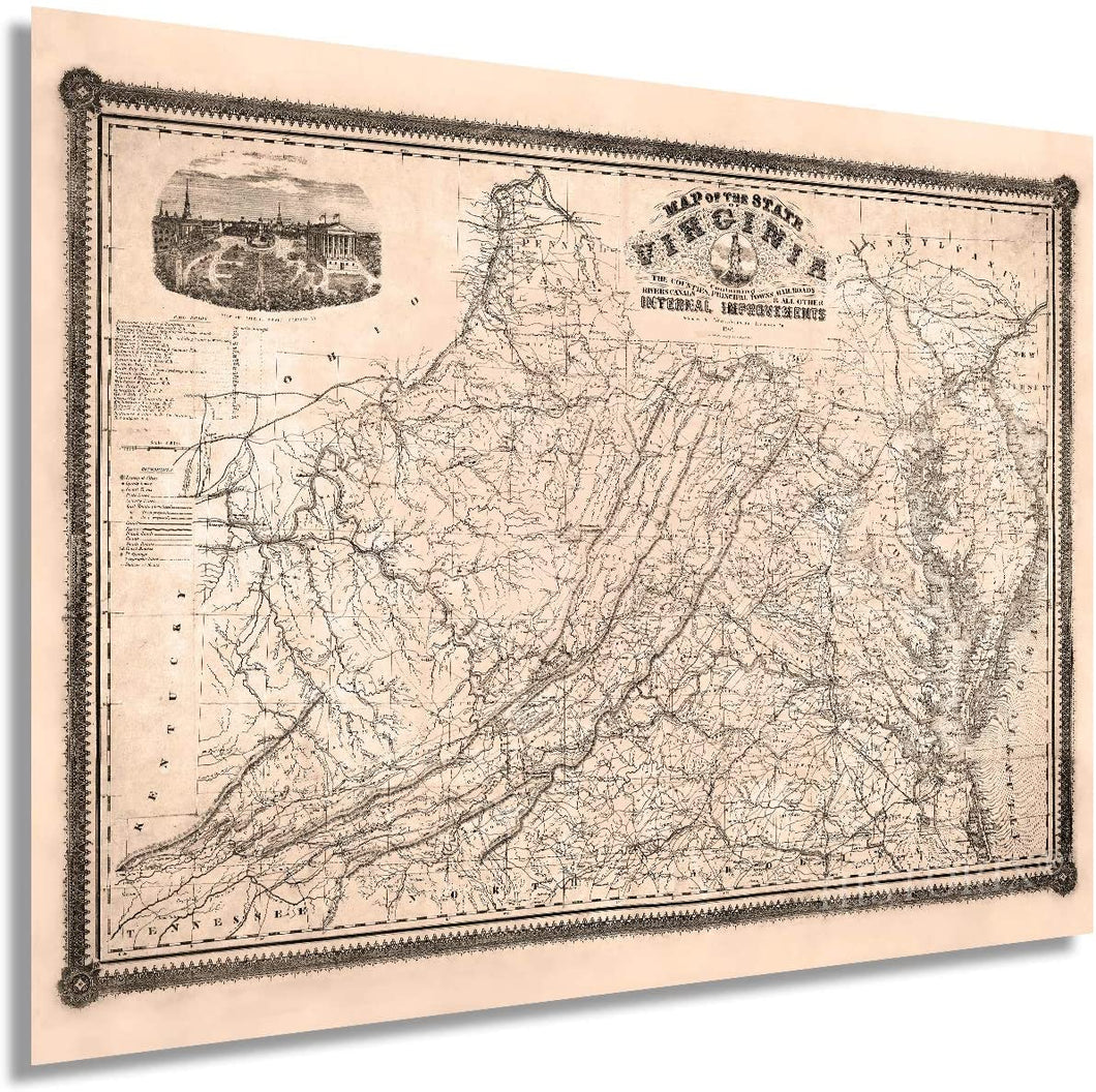 Historix Map of The State of Virginia