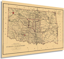 Load image into Gallery viewer, 1887 Indian Territory Map