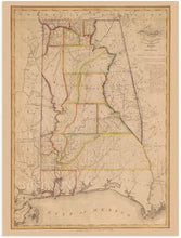 Load image into Gallery viewer, HISTORIX 1819 Map of Alabama