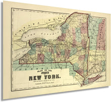 Load image into Gallery viewer, 1875 Plan of the State of New York