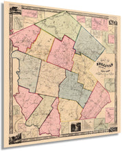 Load image into Gallery viewer, 1856 Map of Sullivan County, New York