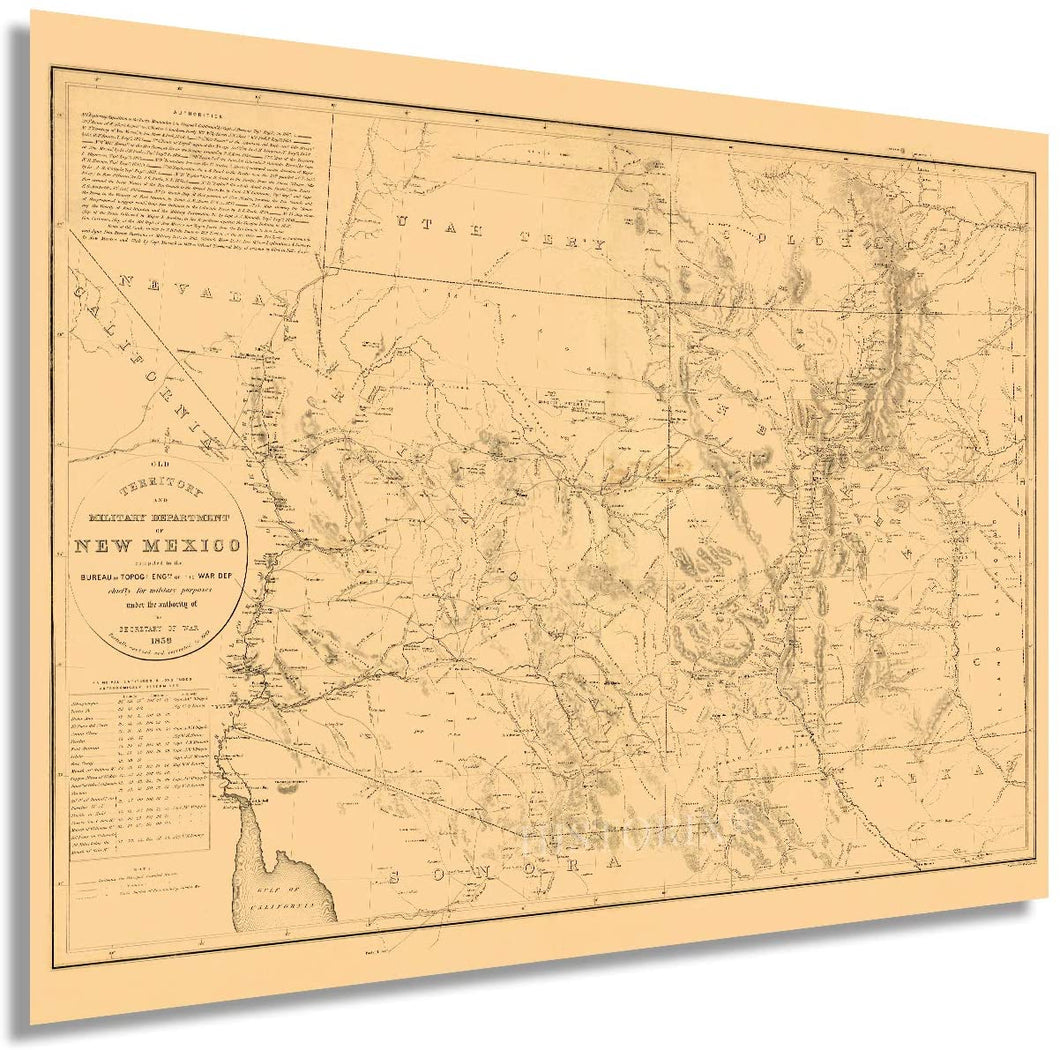 1867 Old Territory and Military Department of New Mexico
