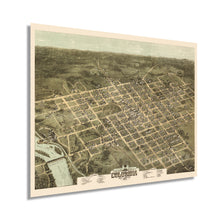 Load image into Gallery viewer, 1872 Columbia South Carolina Map Poster - Vintage Map of Columbia SC Wall Art - Old Columbia SC Map - Historic Bird's Eye View Map of Columbia SC Poster