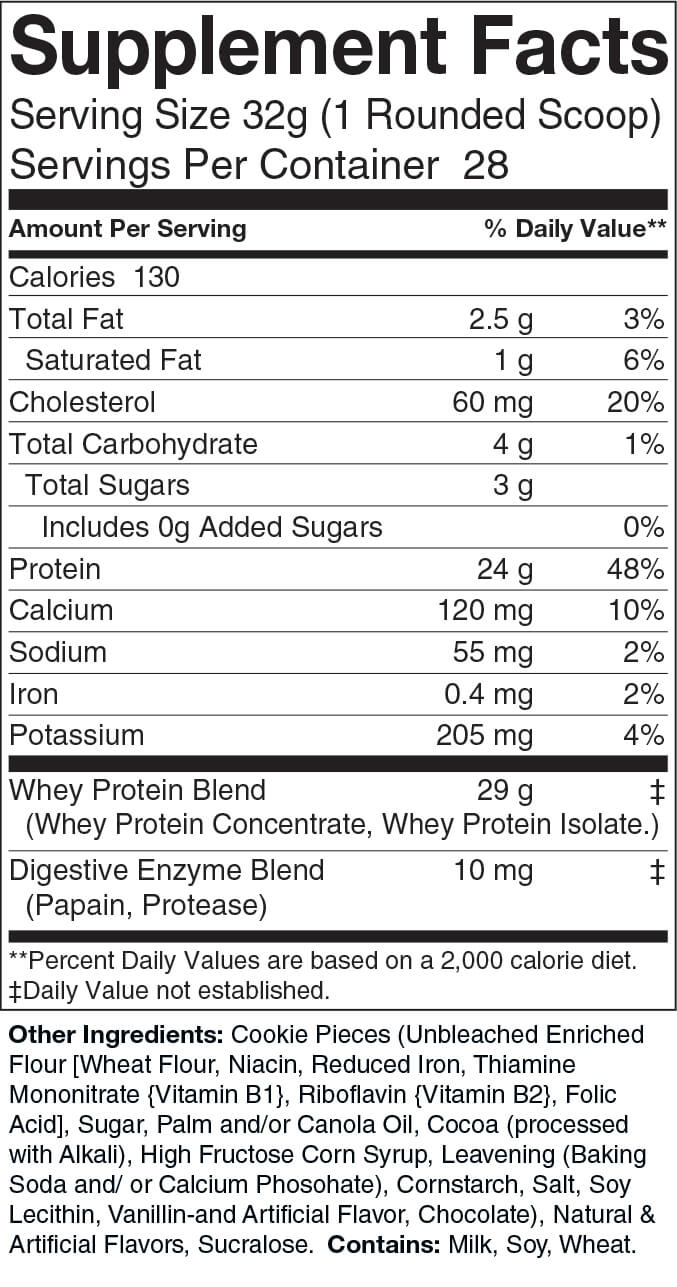 2lb Whey Cookies and Cream – 28 servings