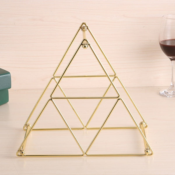 Geometric Iron Wine Display