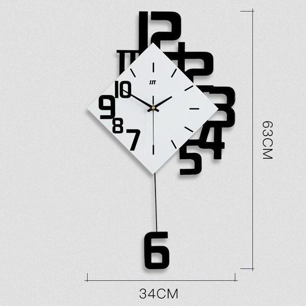 Swing Arm Wall Clock