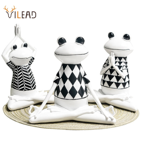 Black and White Yoga Frog