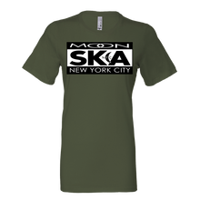 Load image into Gallery viewer, Moon Ska Logo Ladies Shirt - Military Green