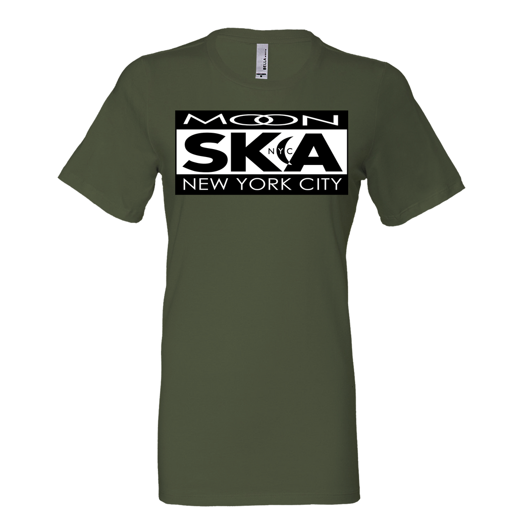Moon Ska Logo Ladies Shirt - Military Green