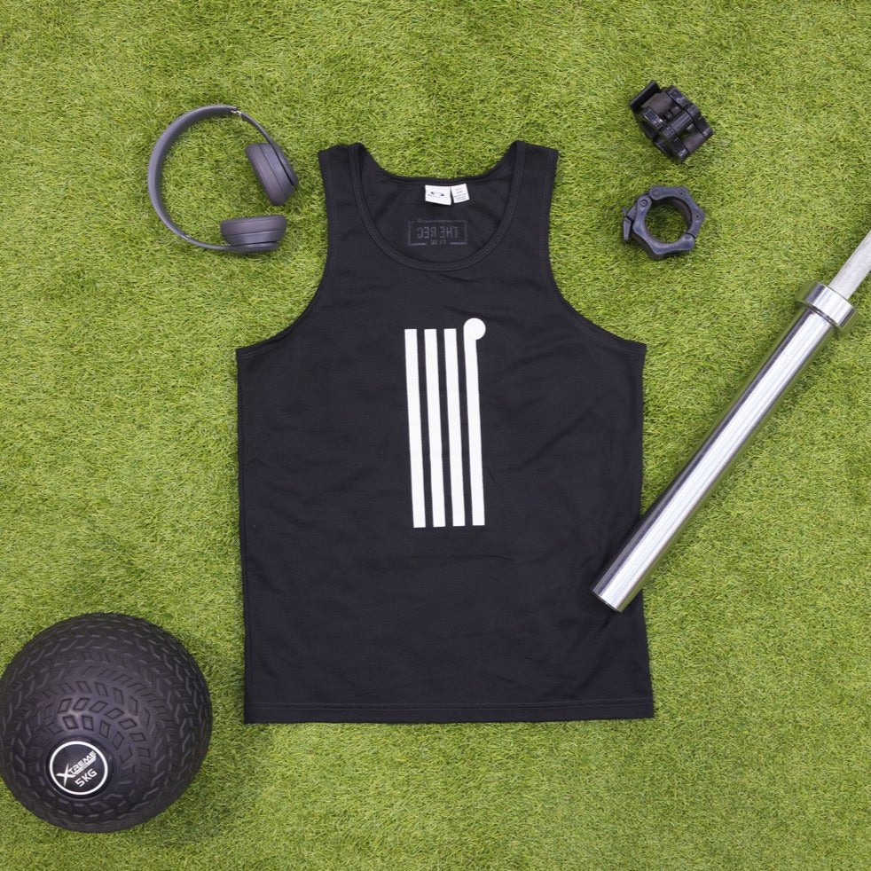 Mens Black Icon Singlet - The Rec Room Merch