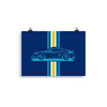 Load image into Gallery viewer, GT4 - blue Poster