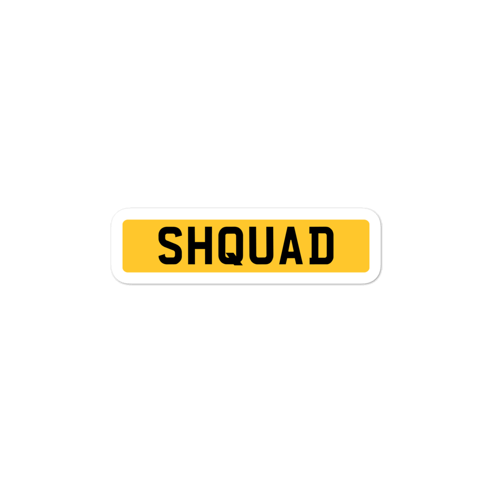 SHQUAD Plate Sticker