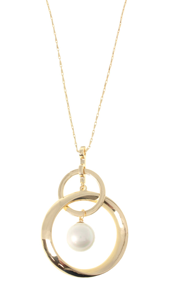 Something Special Circles Pearl Pendant
