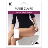 Barely Black 10 Denier Ladder Resist Sheer Tights